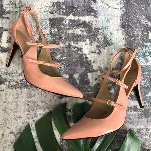 Banana Republic Patent Peach Leather Heels 10M B3